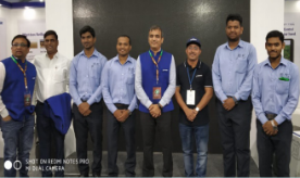 Exhibition participation with Netafim employees